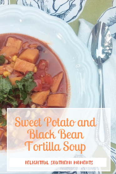 Sweet Potato and Black Bean Tortilla Soup