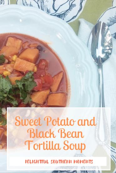 Sweet Potato and Black Bean Tortilla Soup